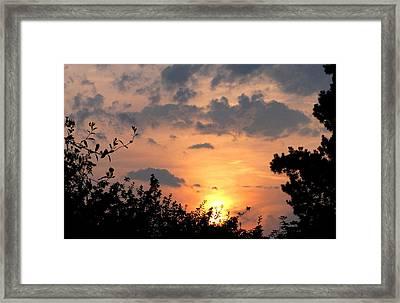 Sunset July 22nd 2013 Framed Print