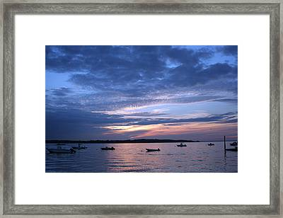 Framed Print featuring the photograph Sunset by Karen Silvestri
