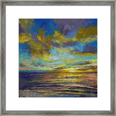 Sunset Key Largo Framed Print by Michael Creese