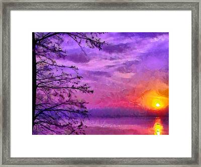 Sunset Lake Framed Print by Anthony Caruso