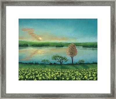 Sunset Lake B Framed Print