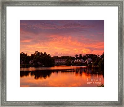 Framed Print featuring the photograph Sunset Lake by Dale Nelson
