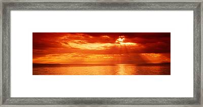 Sunset, Lake Geneva, Switzerland Framed Print by Panoramic Images