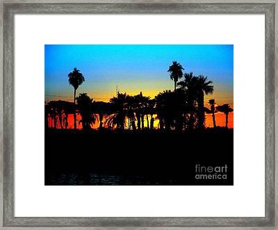 Sunset Lake Havasu Framed Print by John Potts