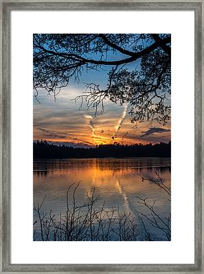 Sunset Lake Horicon Lakehurst New Jersey Framed Print by Terry DeLuco