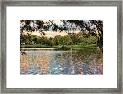sunset lake I Framed Print by Chuck Kuhn