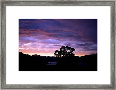 Sunset Lake Framed Print by Matt Harang