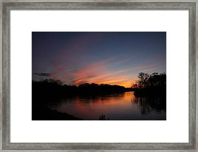 Sunset Lake Williams Framed Print
