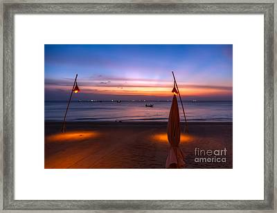 Sunset Lanta Island  Framed Print