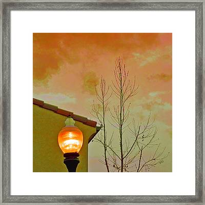 Sunset Lantern Framed Print