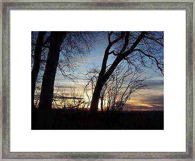 Framed Print featuring the photograph Sunset 1 by Larry Campbell
