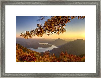 Sunset Light Framed Print by Debra and Dave Vanderlaan
