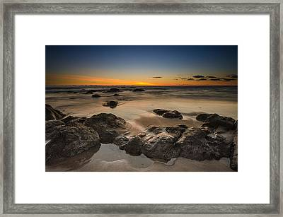 Sunset - Lincoln Beach Framed Print by Tin Lung Chao
