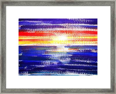 Sunset Lines Abstract Framed Print by Irina Sztukowski