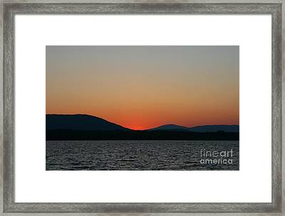 Sunset Lines Of Lake Umbagog  Framed Print by Neal Eslinger