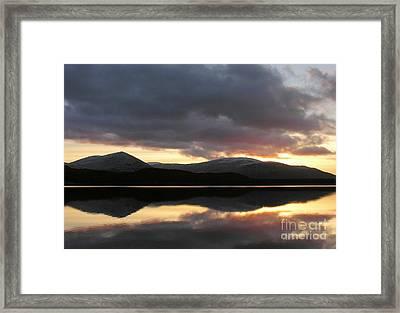 Sunset - Loch Morlich - Scotland Framed Print
