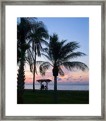 Framed Print featuring the photograph Sunset Lovers by Judy  Johnson
