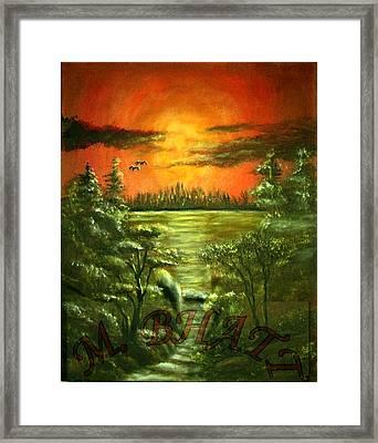 Sunset Framed Print by M bhatt