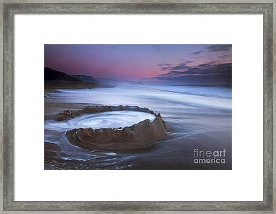 Sunset Maelstrom Framed Print by Mike  Dawson