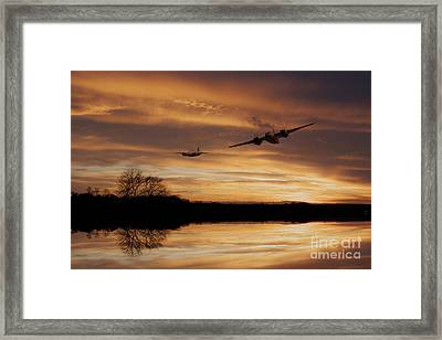 Sunset Marauders  Framed Print