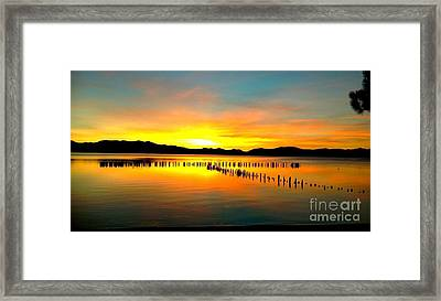 Sunset Framed Print by Marguerite Spieker
