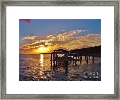Sunset At Morehead City Nc Framed Print by Marilyn Carlyle Greiner