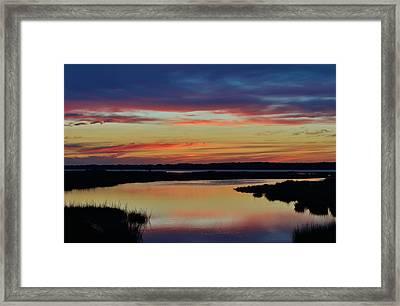 Sunset Marsh Framed Print