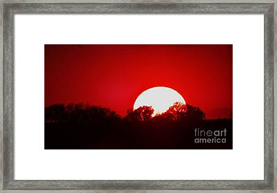 Sunset May Framed Print