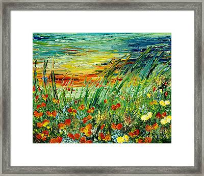 Sunset Meadow Series Framed Print