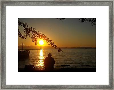 Sunset Meditation Framed Print