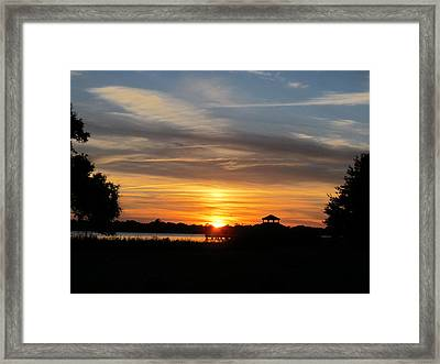 Framed Print featuring the photograph Sunset Mellow Love  by Joetta Beauford