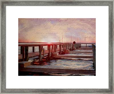 Sunset Memories From Chincoteague Framed Print by Julia Springer