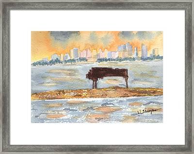 Sunset Miami Piano Bar  Framed Print