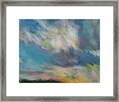 Clouds At Sunset Framed Print by Michael Creese