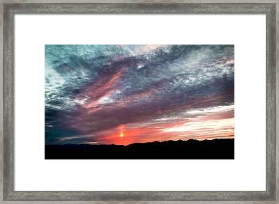 Sunset Migration Framed Print