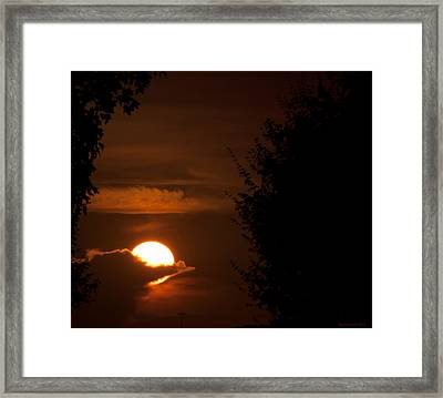 Sunset Framed Print by Miguel Winterpacht