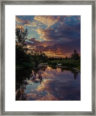 Sunset Mirror Framed Print