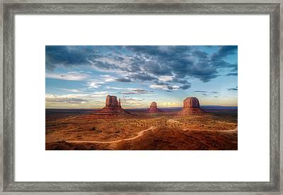 Sunset Mittens Framed Print