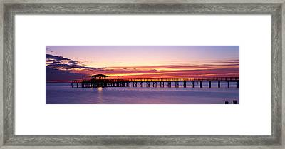 Sunset Mobile Pier Al Usa Framed Print by Panoramic Images