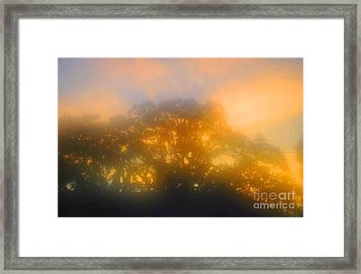 Sunset Mocks Sunrise Framed Print