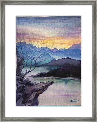 Sunset Montains Framed Print