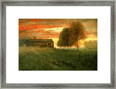 Sunset, Montclair, 1892 Framed Print by George Snr. Inness