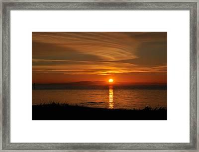 Sunset Mood Framed Print by Sabine Edrissi