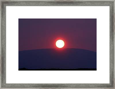 Sunset Mountain Framed Print by Aidan Moran