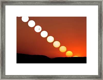Sunset Multiple Exposure Framed Print by Dr Juerg Alean