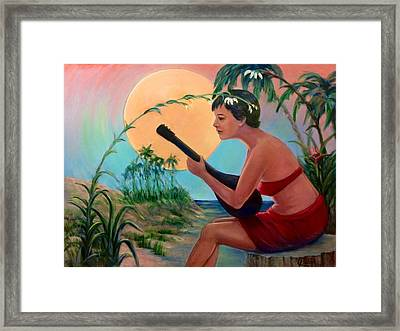 Sunset Music Framed Print by Laila Awad Jamaleldin