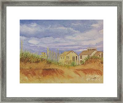 Sunset Nantucket Beach Framed Print