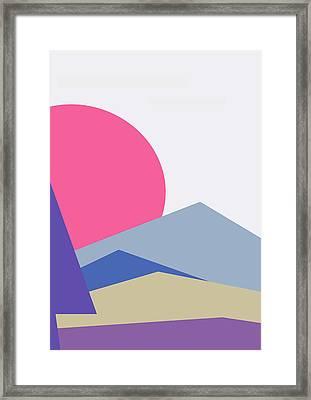 Sunset Nature Minimalistic Landscape Framed Print
