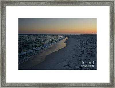 Sunset Navarre Beach Framed Print by Janice Spivey