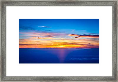 Sunset Framed Print by Neah Falco